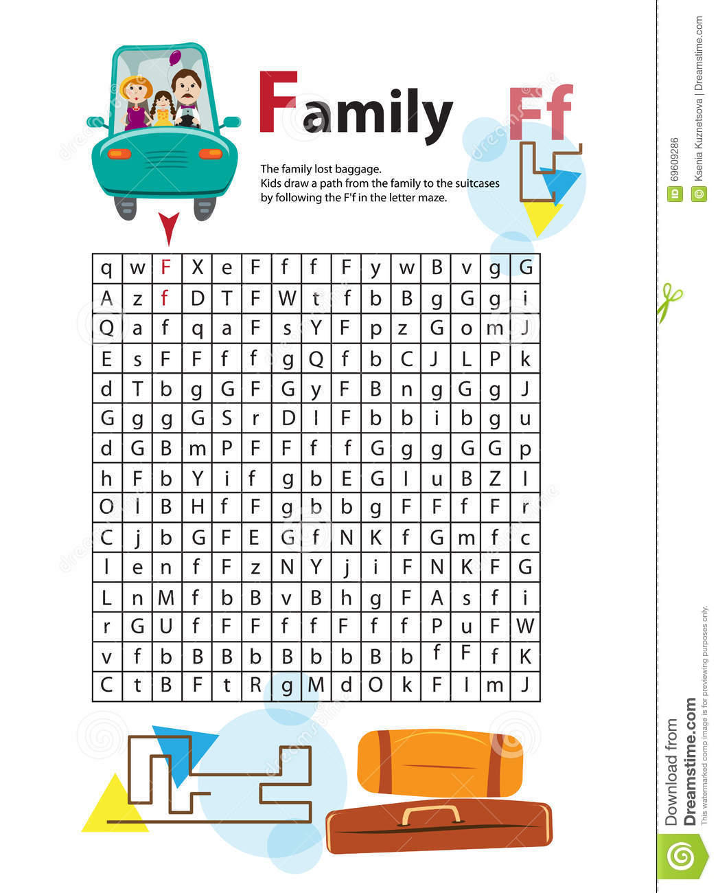 Letter Maze F This Worksheet Helps Kids Recognize And