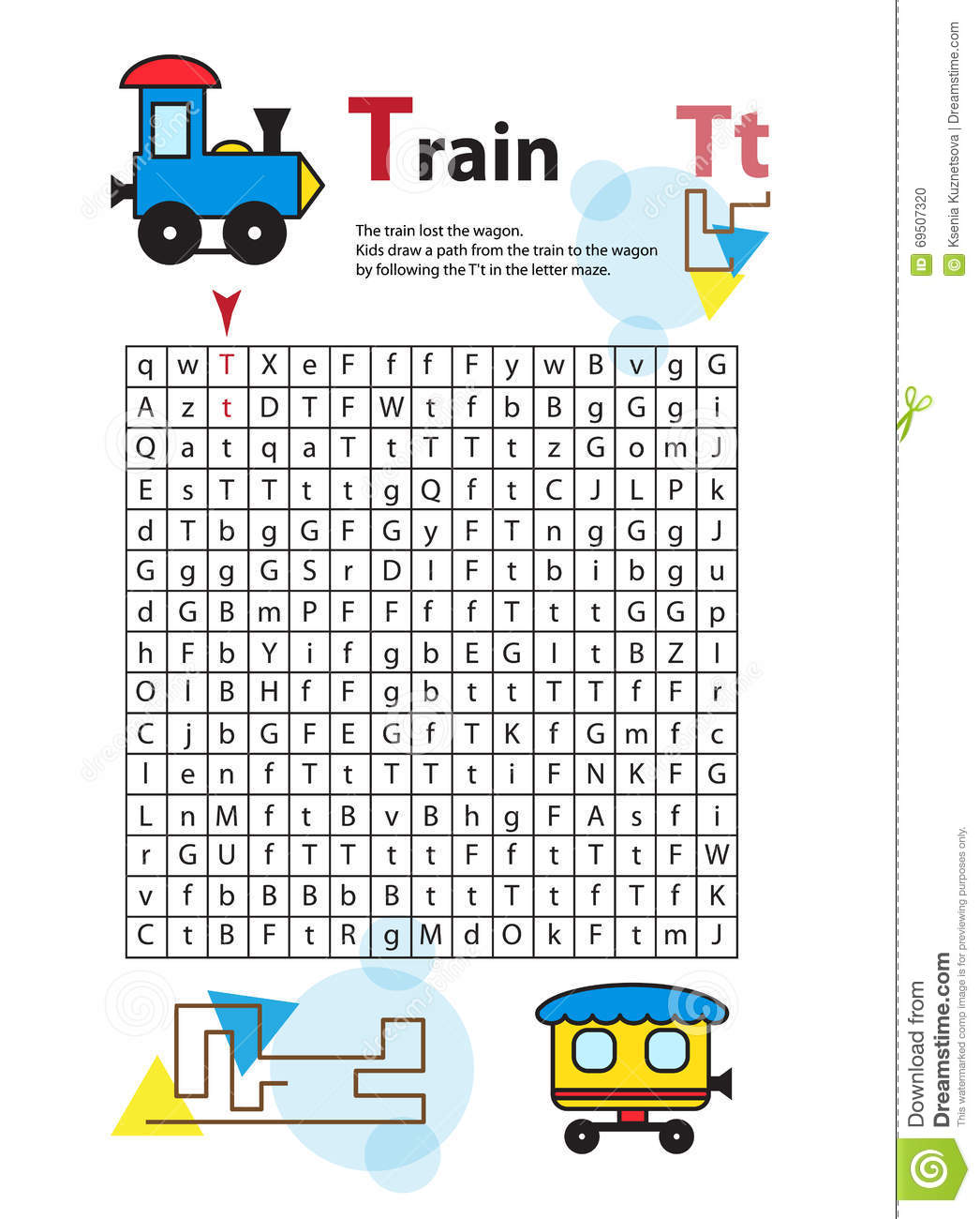 Letter Maze T This Worksheet Helps Kids Recognize And