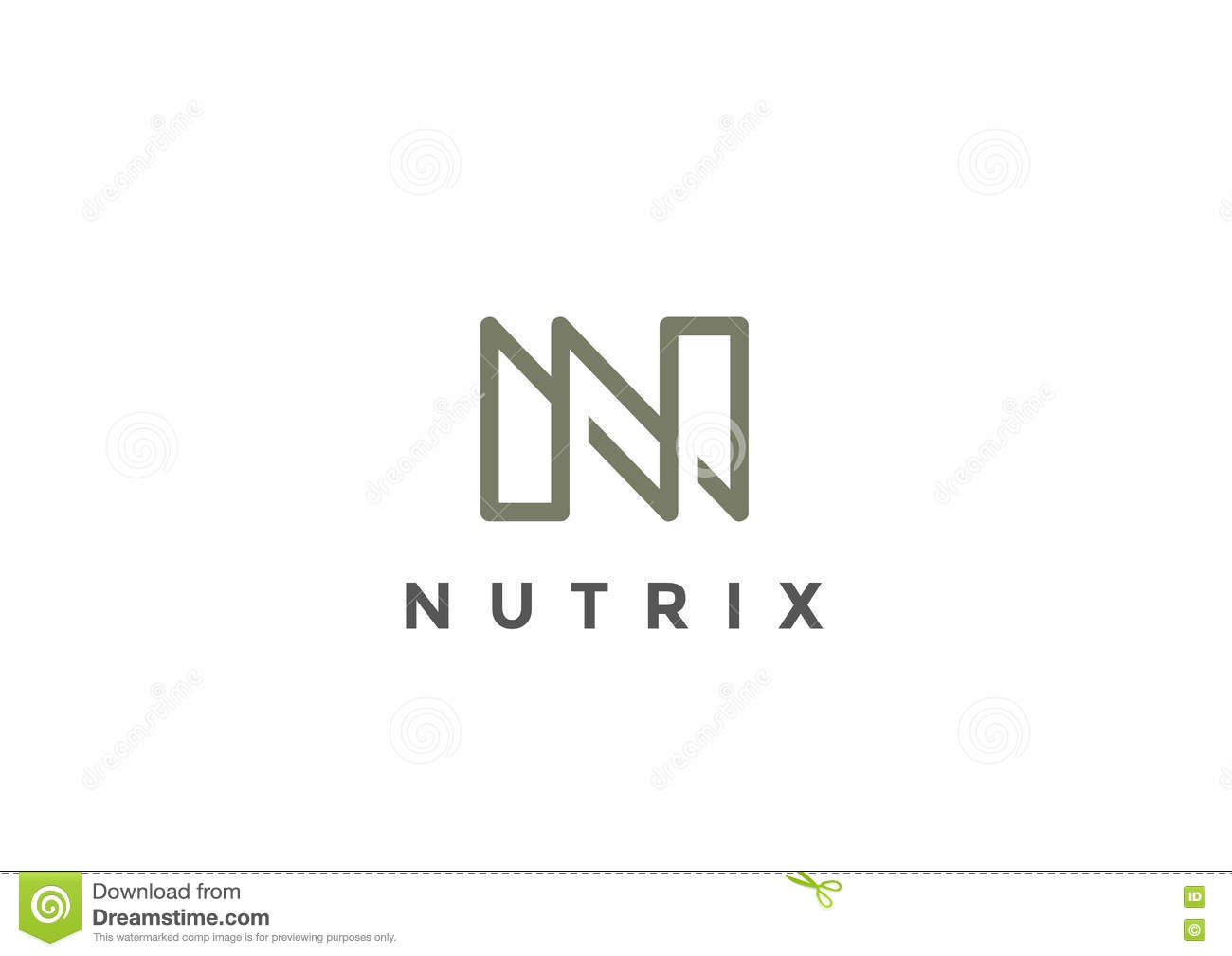 Letter N Logo Monogram Vector Linear Business Stock Vector