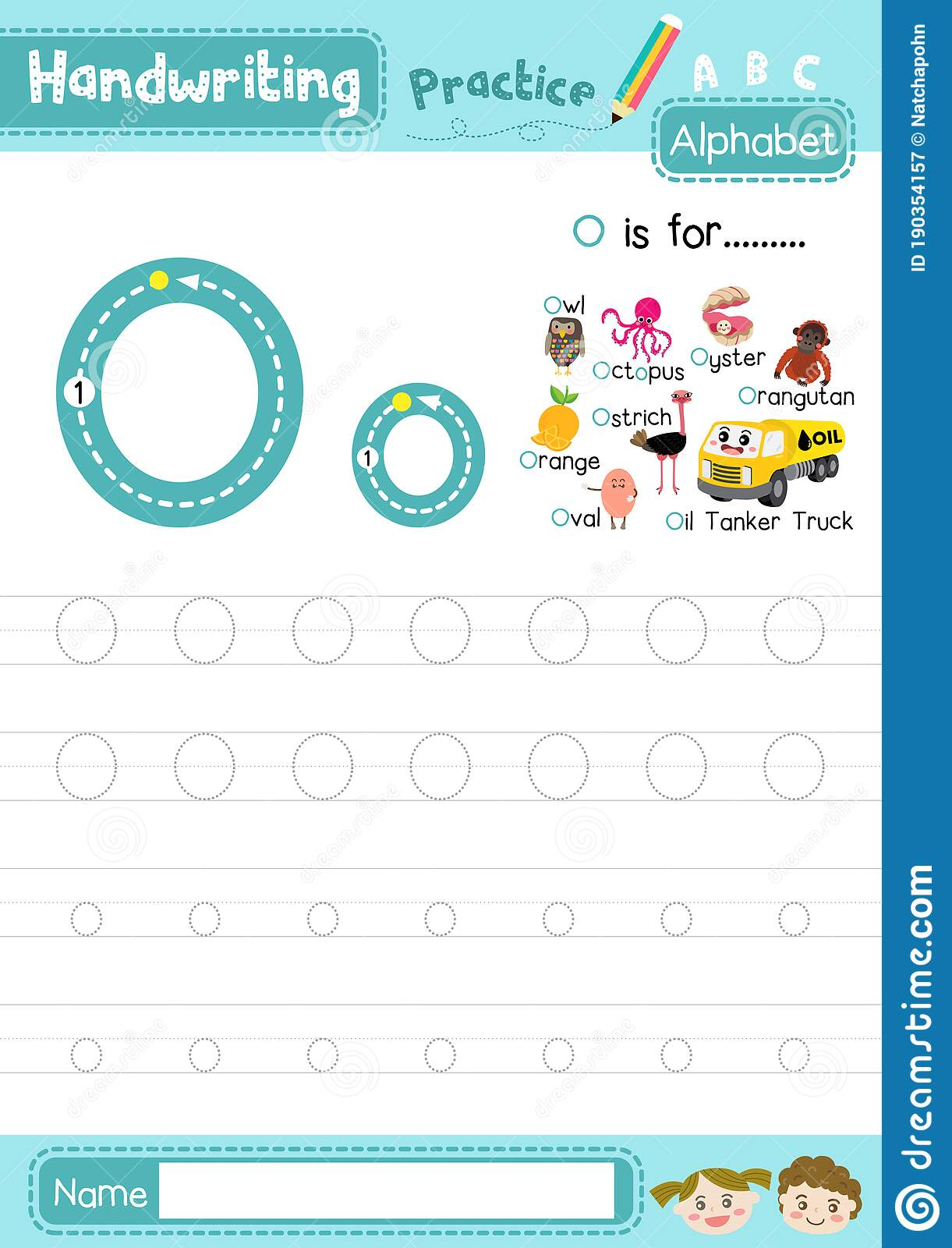 Letter O Uppercase And Lowercase Tracing Practice