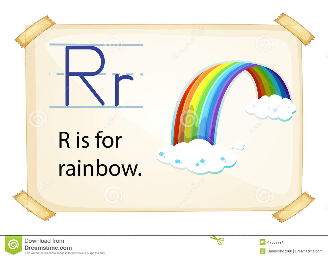 A Letter R For Rainbow Stock Vector Illustration Of
