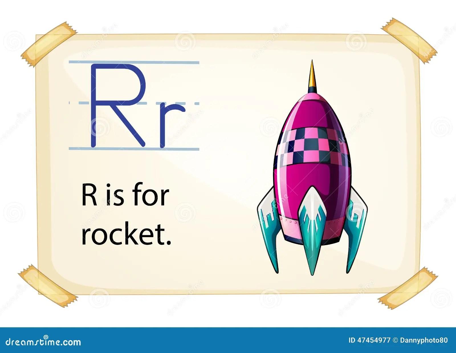 A Letter R For Rocket Stock Vector Illustration Of