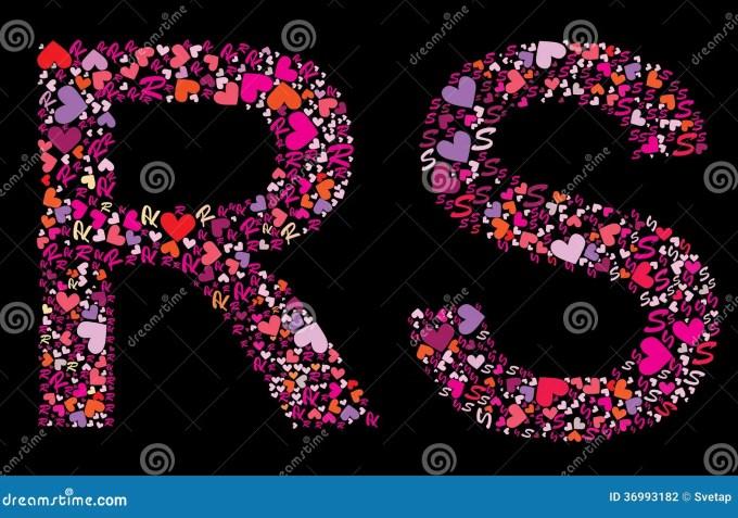 Letter R S Valentine Alphabet Stock Vector Image 36993182 Wallpaper