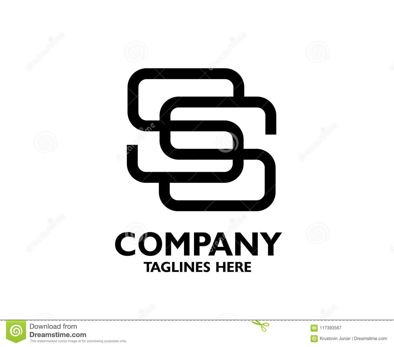 Letter SS Logo Icon Design Template Elements Stock Vector
