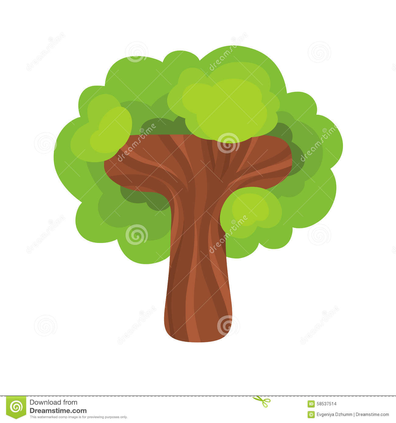 Letter T In The Form Of A Tree Stock Vector