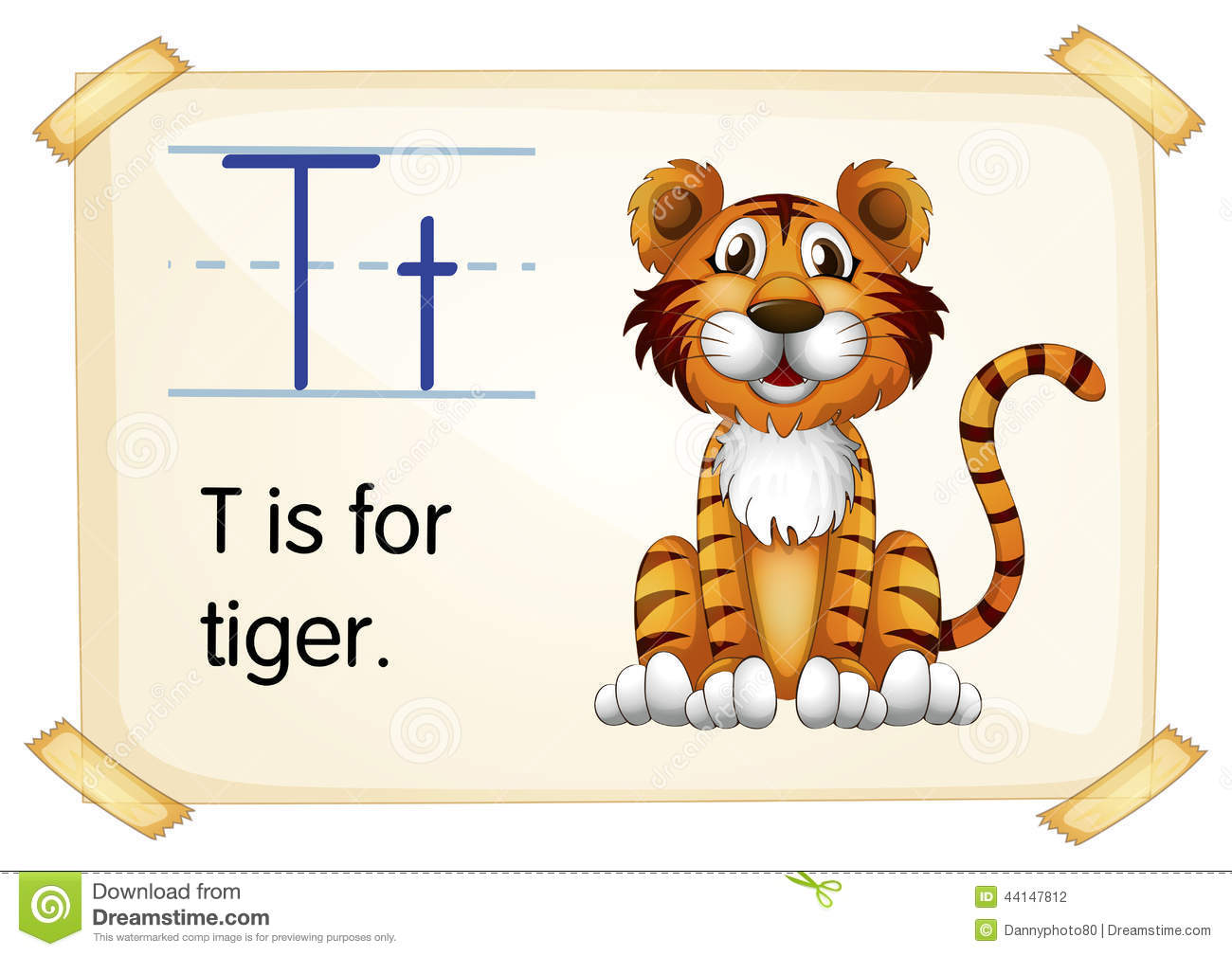 Letter T Stock Vector Illustration Of Creature Letters
