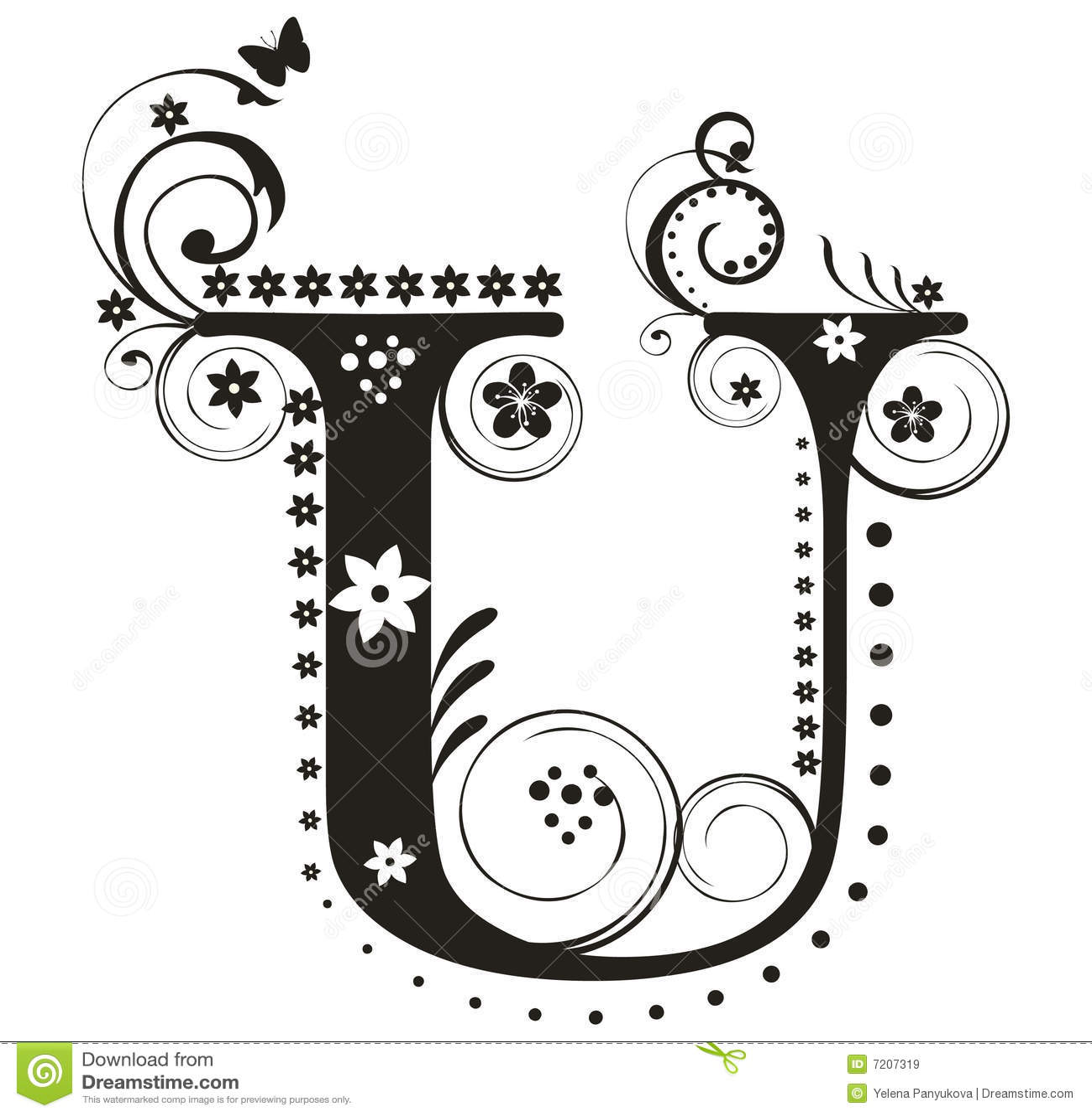 Letter U Stock Vector Illustration Of British Type