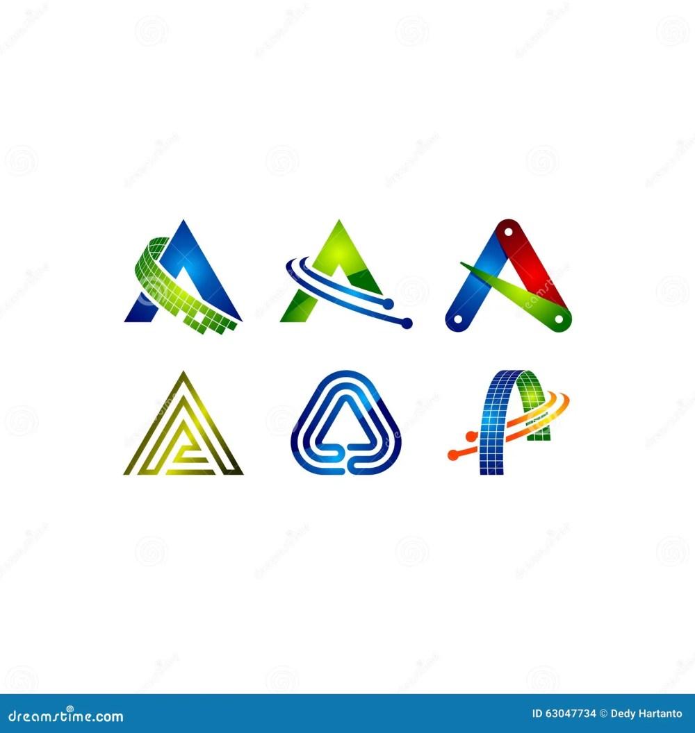 medium resolution of letter a vector clipart logo
