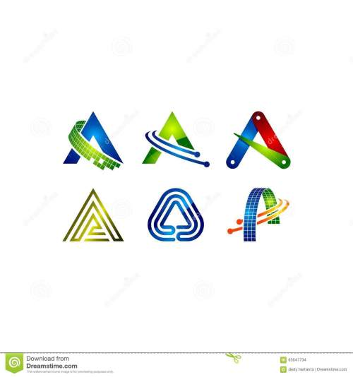 small resolution of letter a vector clipart logo