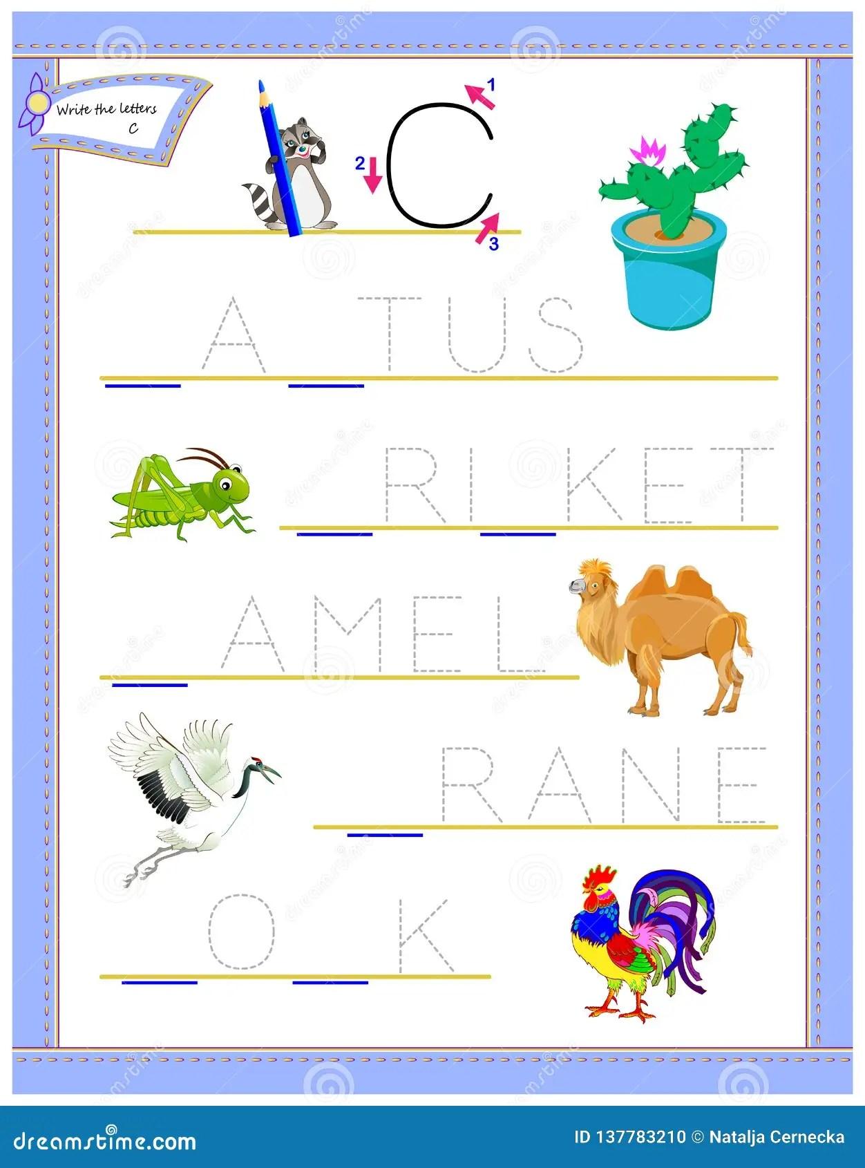 Lettera Di Rintracciamento C Per L Alfabeto Inglese Di