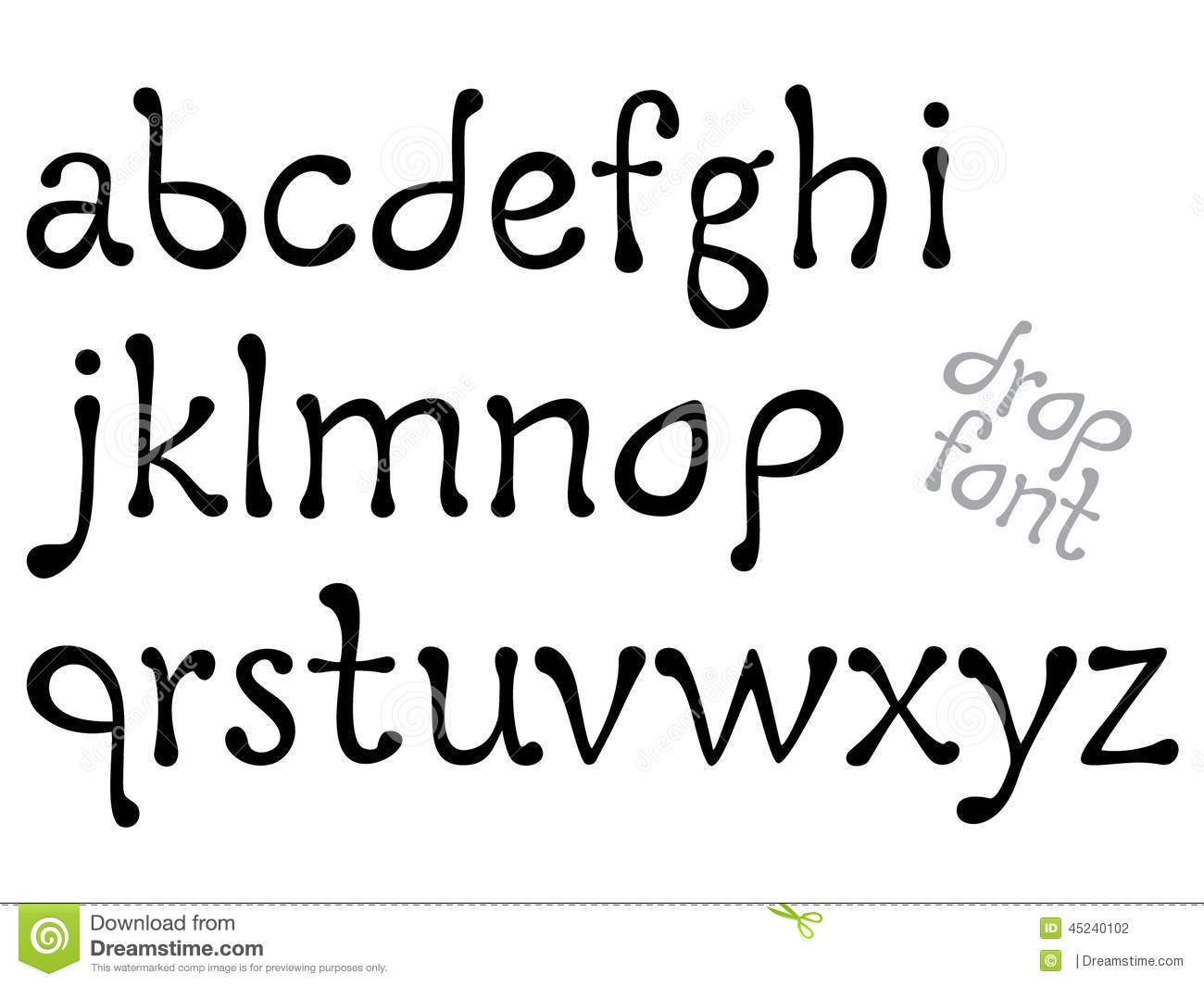 Letters Of The Alphabet, Vector Illustration Stock Vector