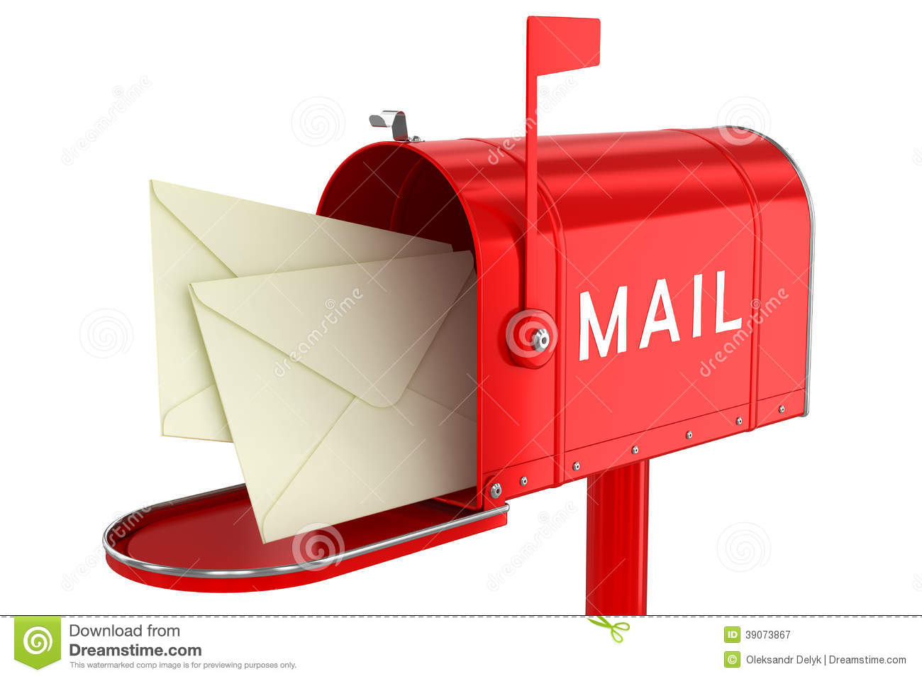 Letters In An Open Mailbox Stock Illustration  Image 39073867