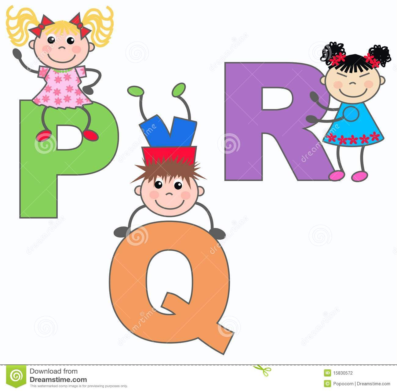 Letters P Q And R Stock Illustration Illustration Of