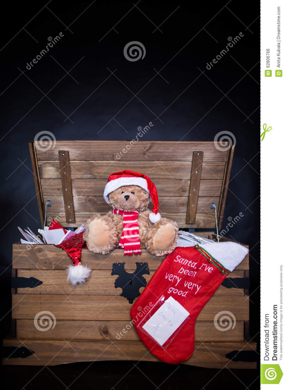 Letters To Santa Claus Stock Photo Image Of Teddy Bear