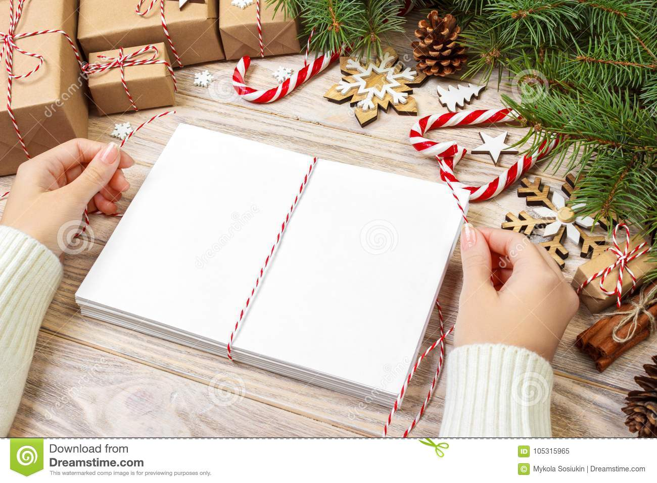 Download Letters Wrapping And Gift Box, Cards For Christmas Greetings.  Envelopes With Letters,