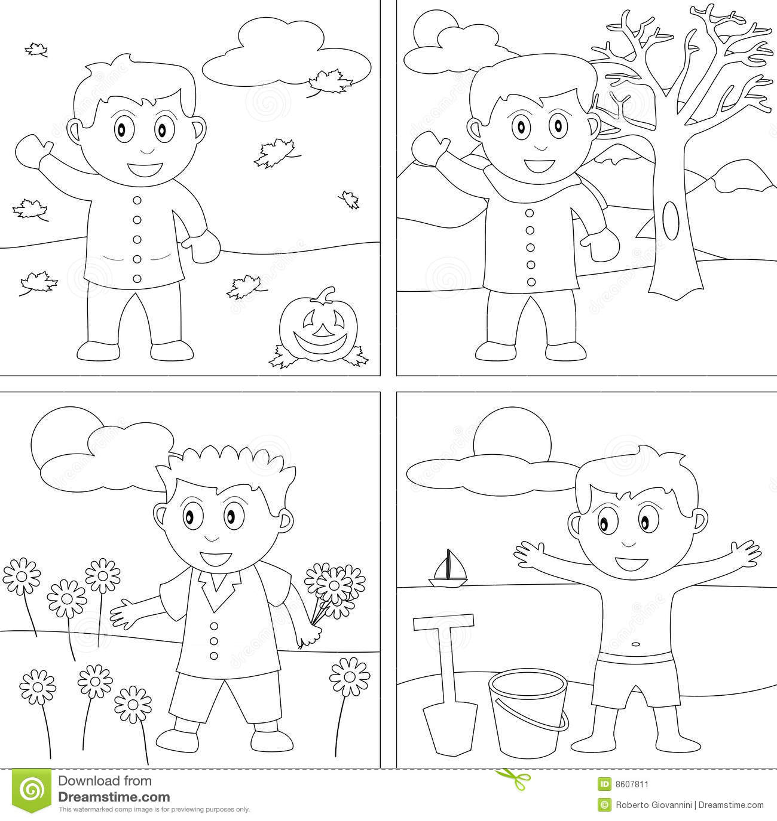 Libro De Colorante Para Los Cabritos 27 Ilustracion Del