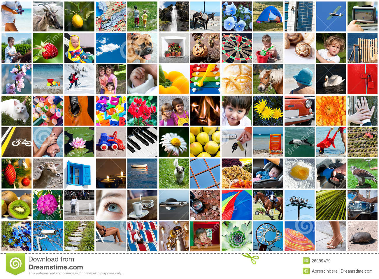 life collage stock image