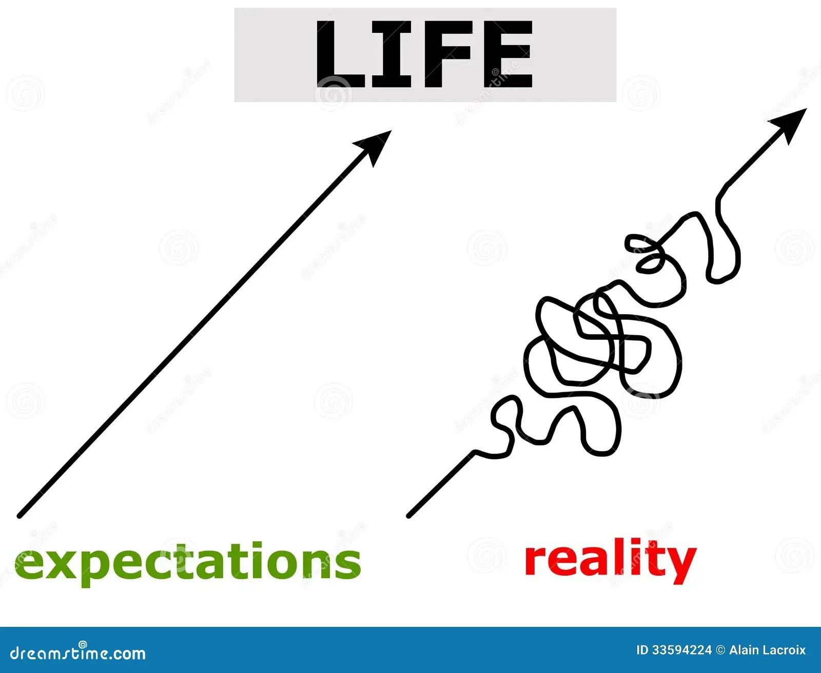Life expectations stock illustration. Illustration of