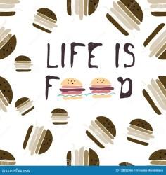 Food Background Burgers Hand Drawn Illustration For Your Design Stock Vector Illustration of business menu: 128853366
