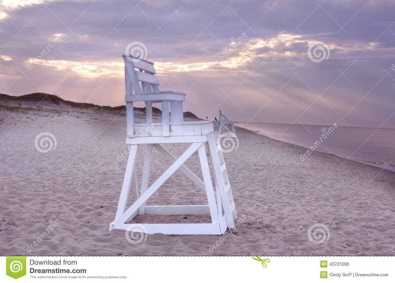 Cape Cod Beach Chair Lifeguard Chair On Beach Cape Cod Stock Photo Image Of