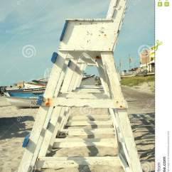 Wood Beach Chairs Bedroom Chair Perth Lifeguard Tower Stock Photo. Image Of Chair, Guard, - 6212320