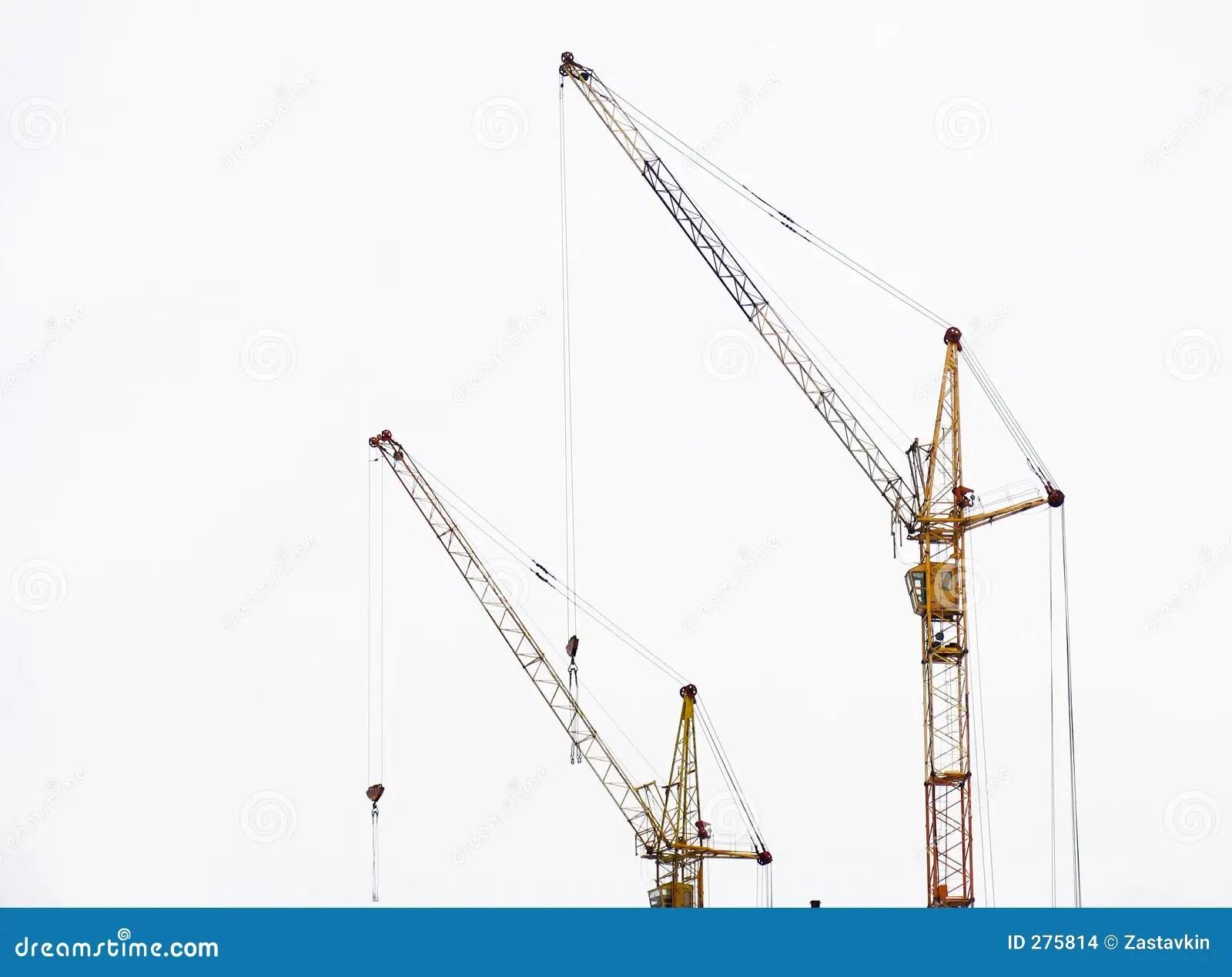 Lifting Cranes Stock Images