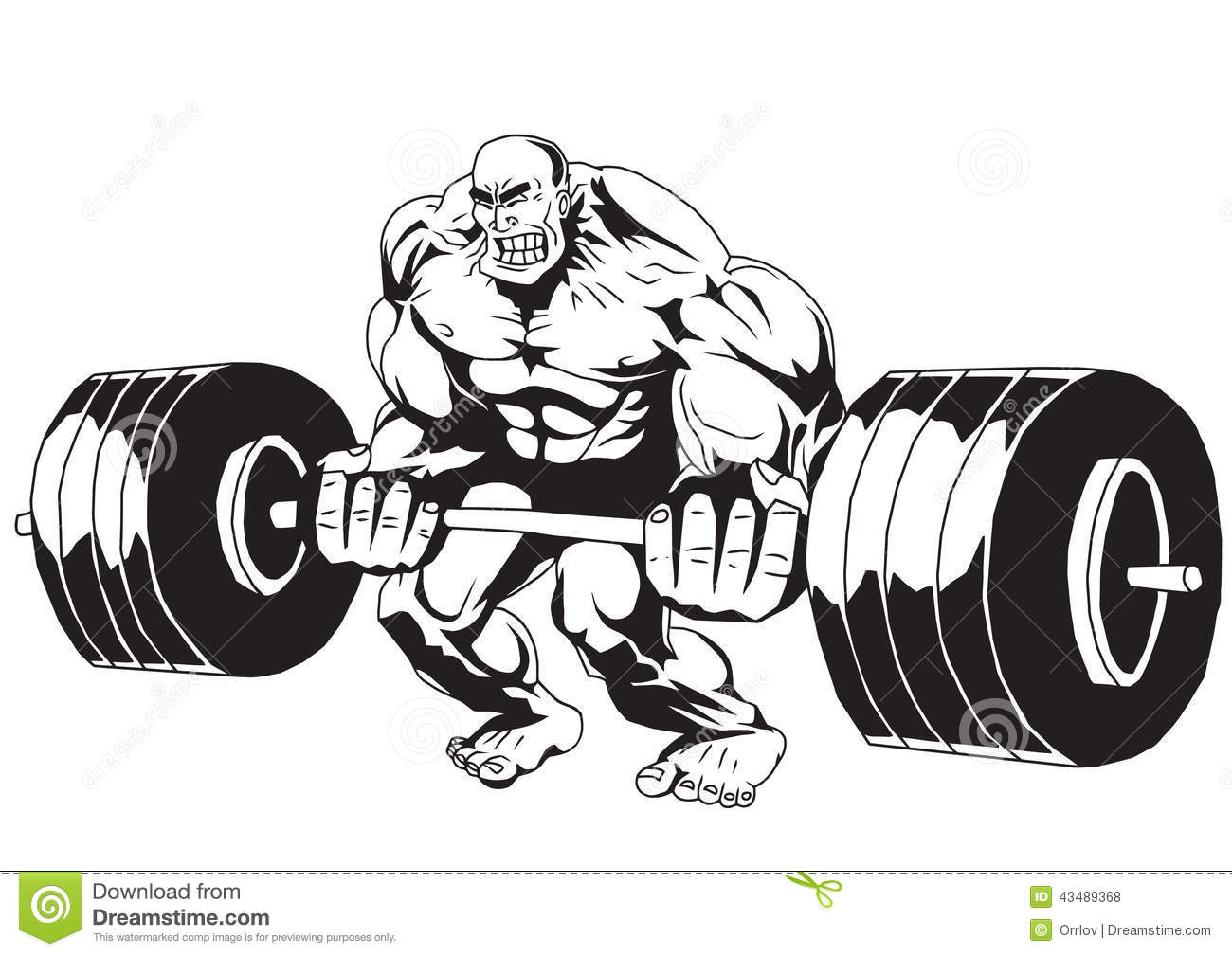 Lifting Weights Stock Vector Illustration Of Heavy Huge
