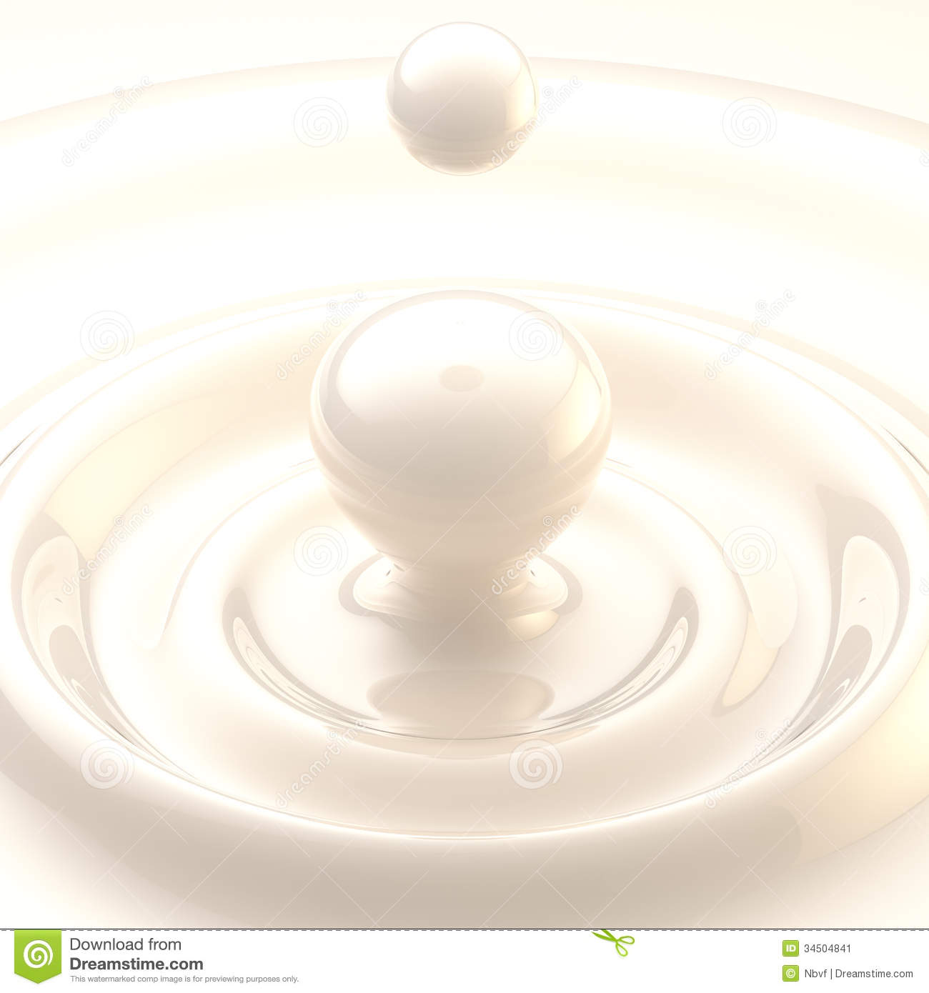 Falling Water Wallpaper Free Download Light Background Cream Or Milk Liquid Drop Stock Image