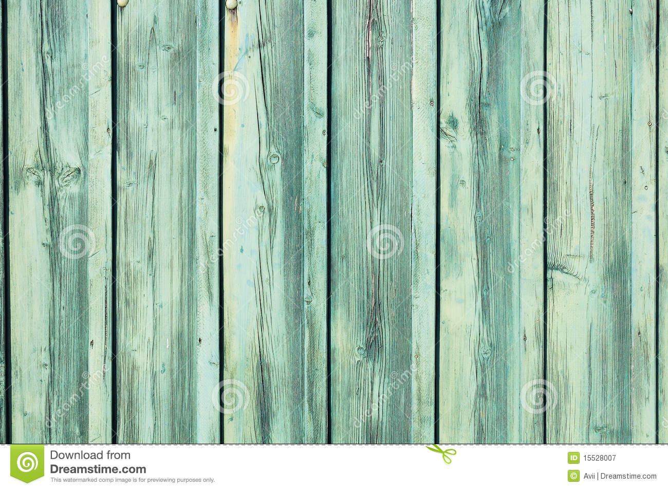 Light Bluegreen Weathered Wooden Fence Royalty Free Stock