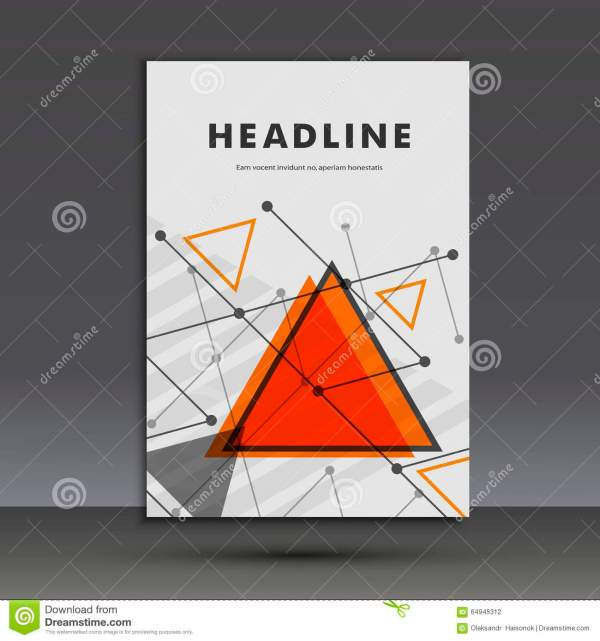 Light Book Cover. Abstract Vector Composition Of Triangles