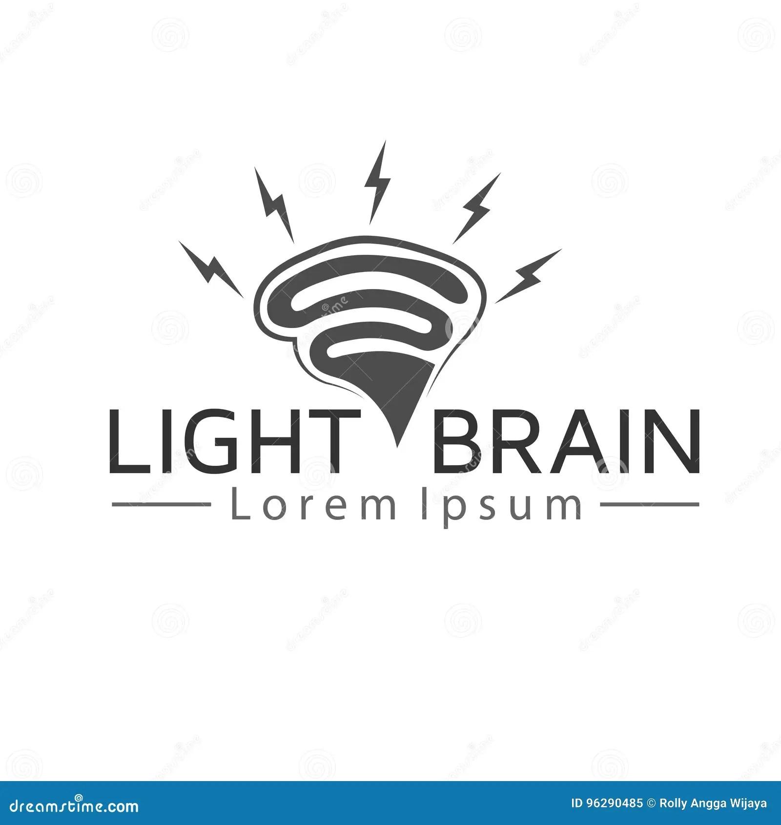 Light Brain Logo Stock Vector Illustration Of Design