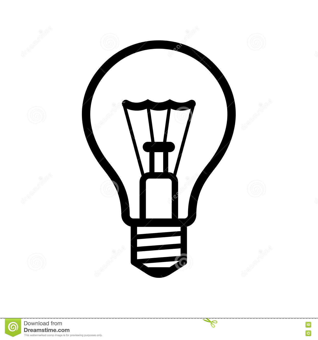 Light Bulb Icon On White Background Vector Stock Vector