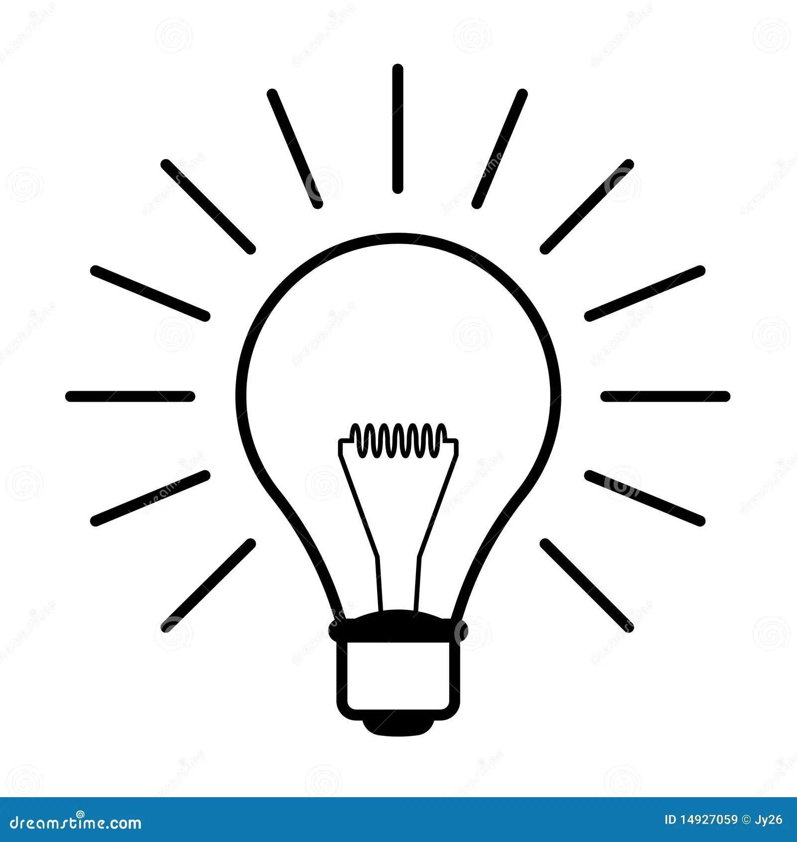 Light Bulb Illustration Stock Vector Illustration Of