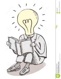 Light Bulb Moment Man. Brain Power And Great Ideas. Stock ...