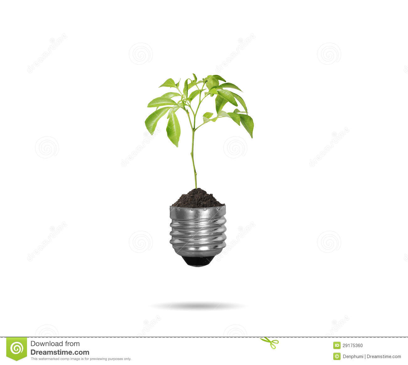 Light Bulb With Plant As The Filament Stock Illustration