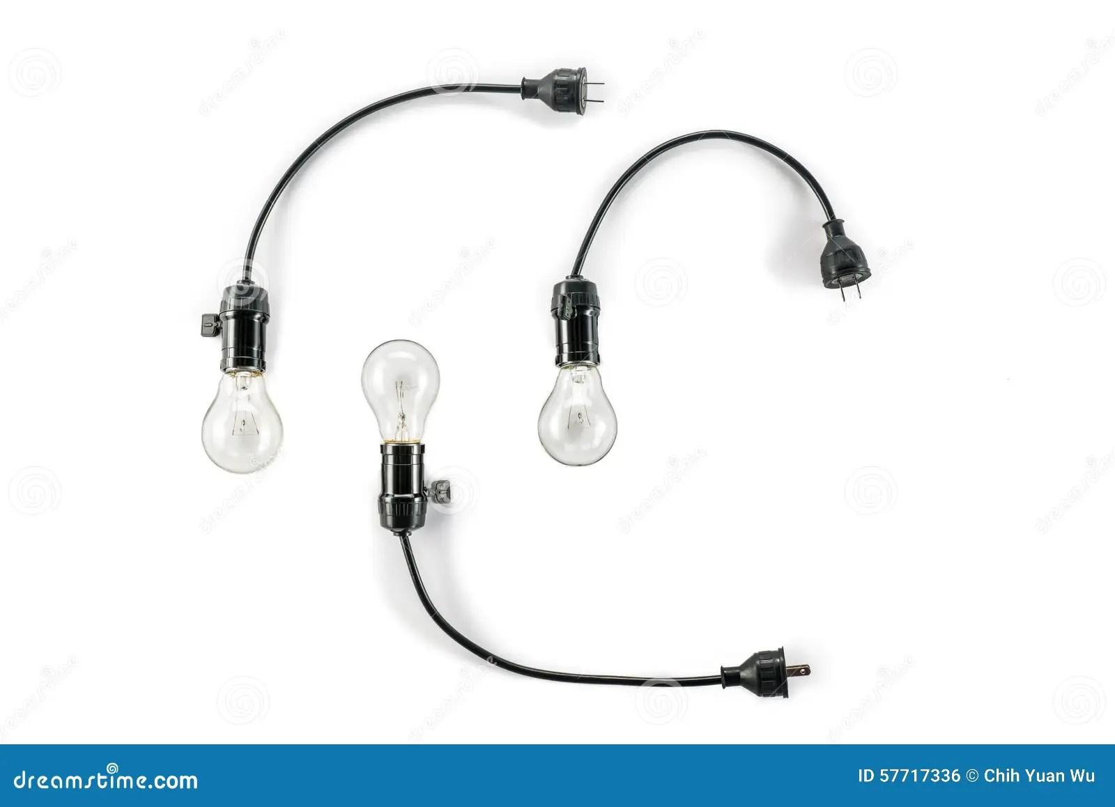 Three Light Bulb Cartoon Vector
