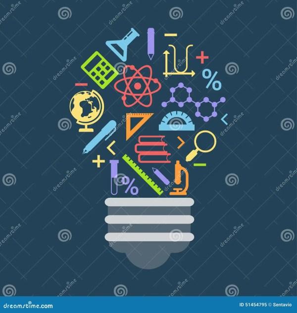 Light Bulb Shape Idea Concept Formed Education Icons