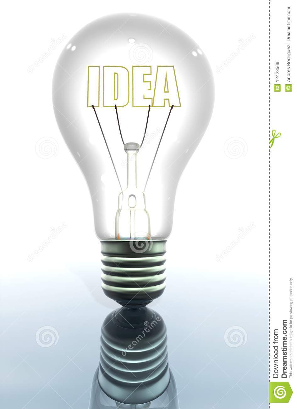 Light bulb showing an idea stock photo Image of