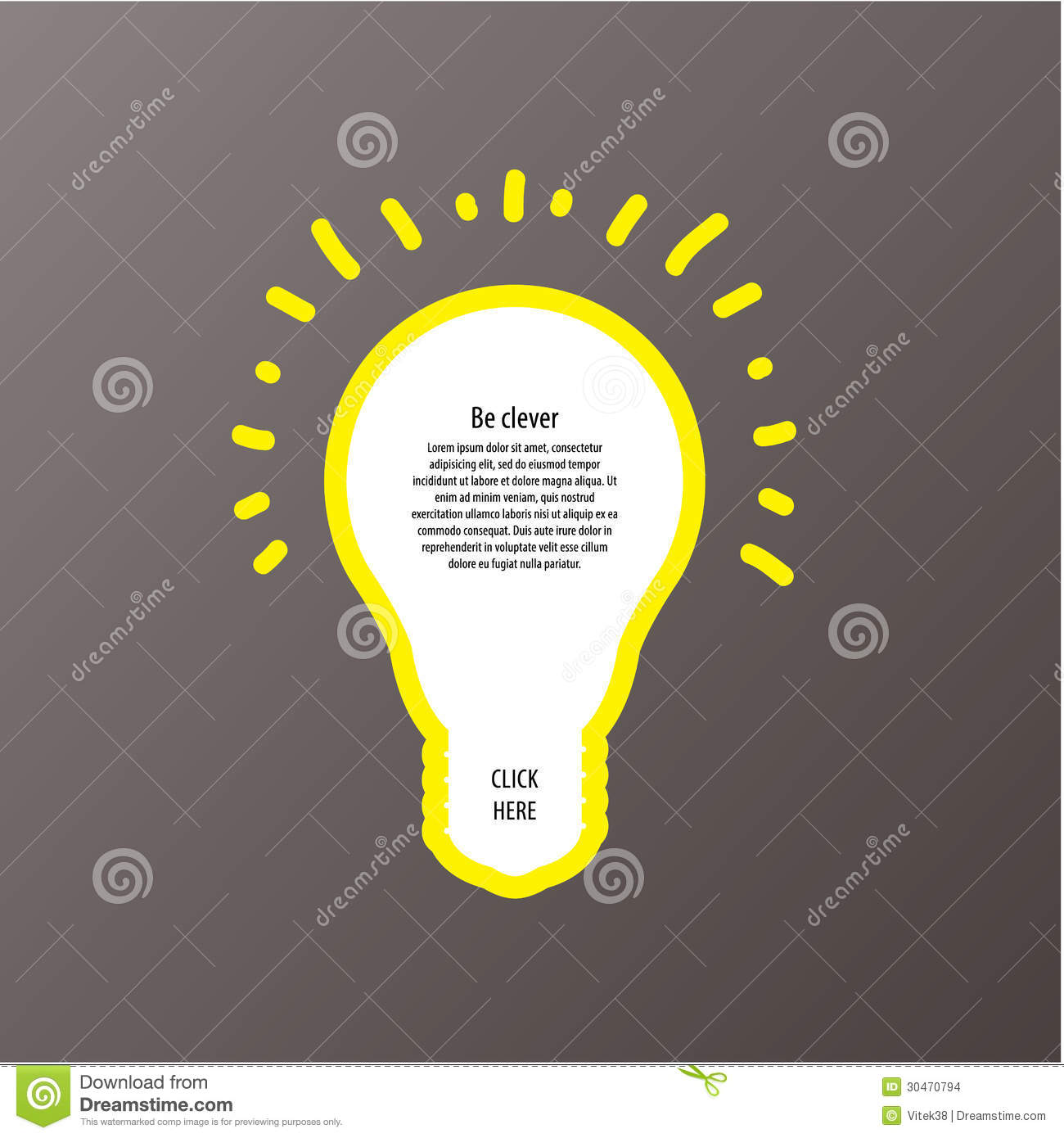 Light Bulb Vector Labels Modern Template With Space For