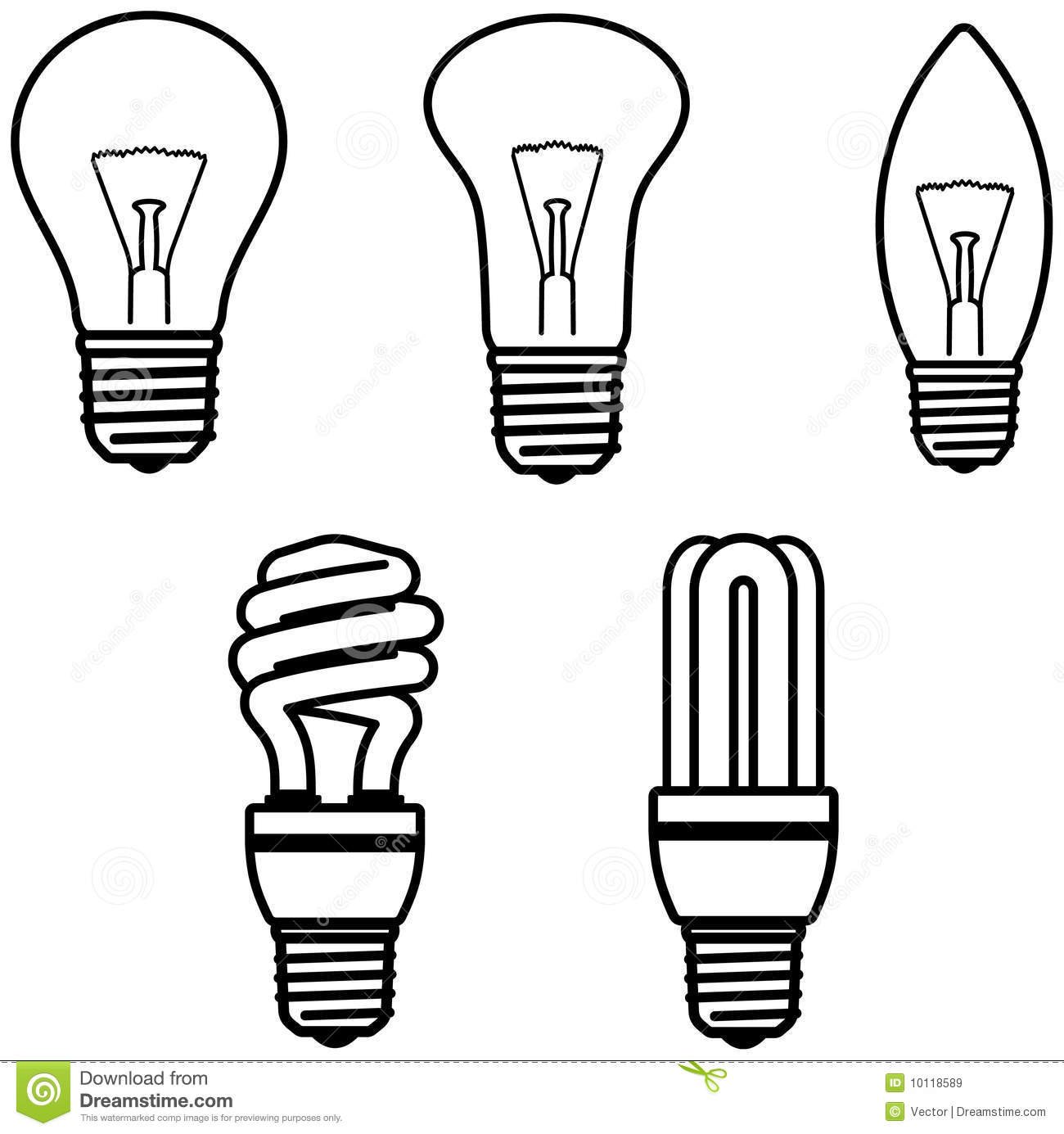 Light Bulbs Vector Illustration Stock Vector