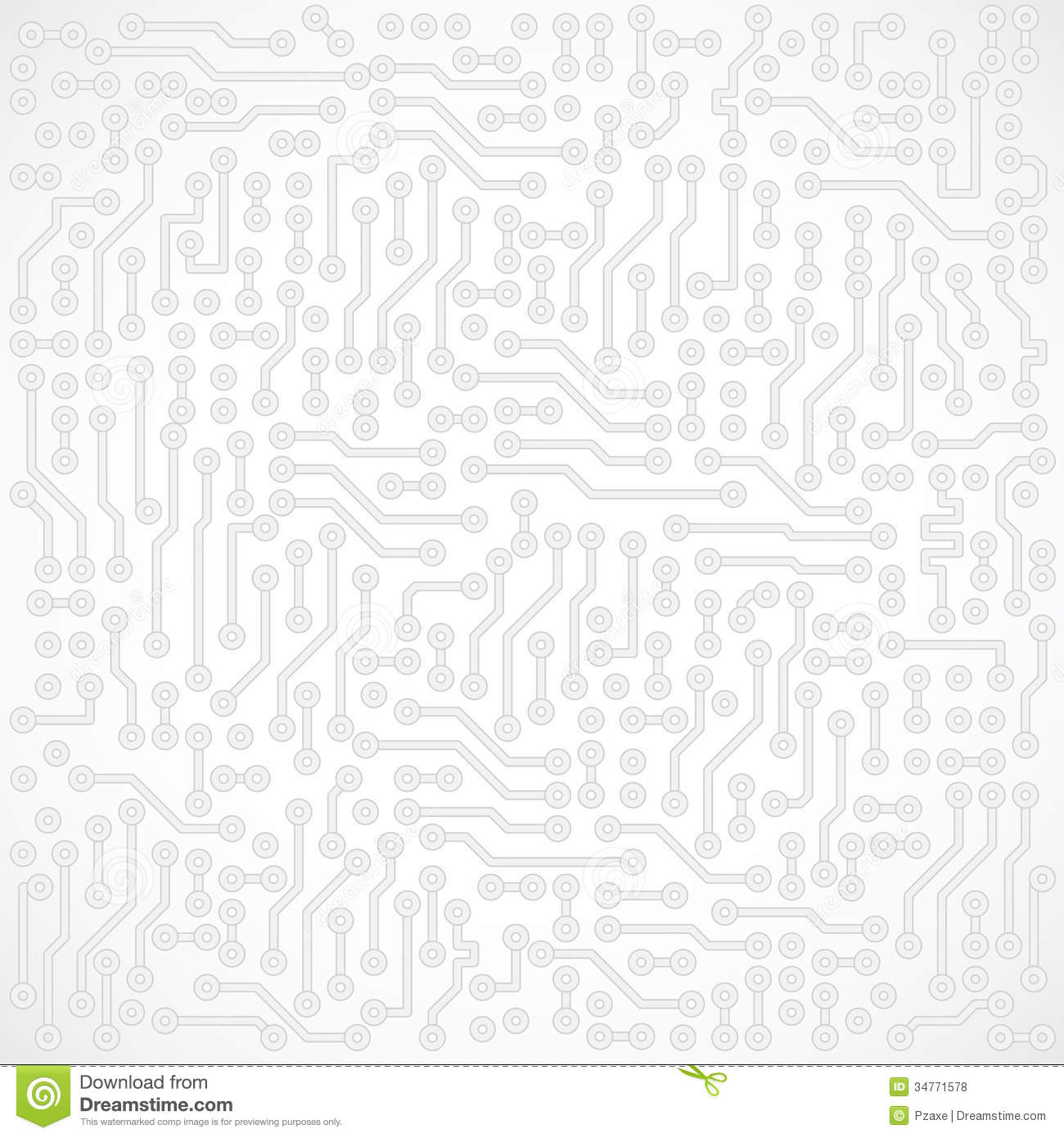 Light Gray Square Abstract Vector Electronic Stock Vector