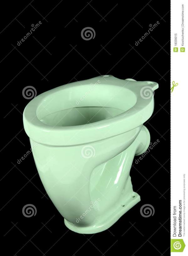 Light Green Toilet Bowl Royalty Free Stock
