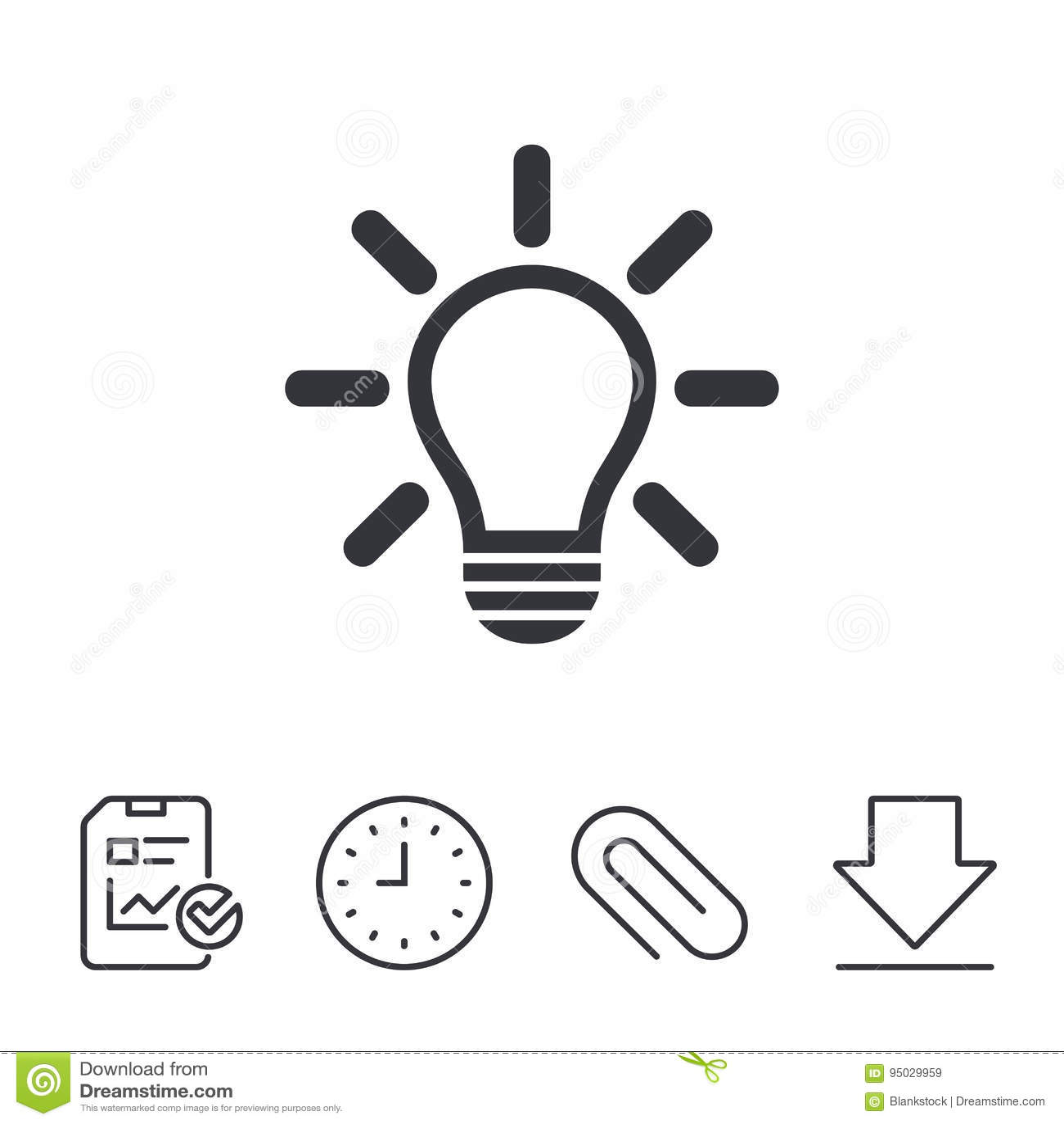 Light Lamp Sign Icon Idea Symbol Stock Vector