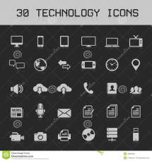 Light Technology Icons Vector Illustration Royalty Free