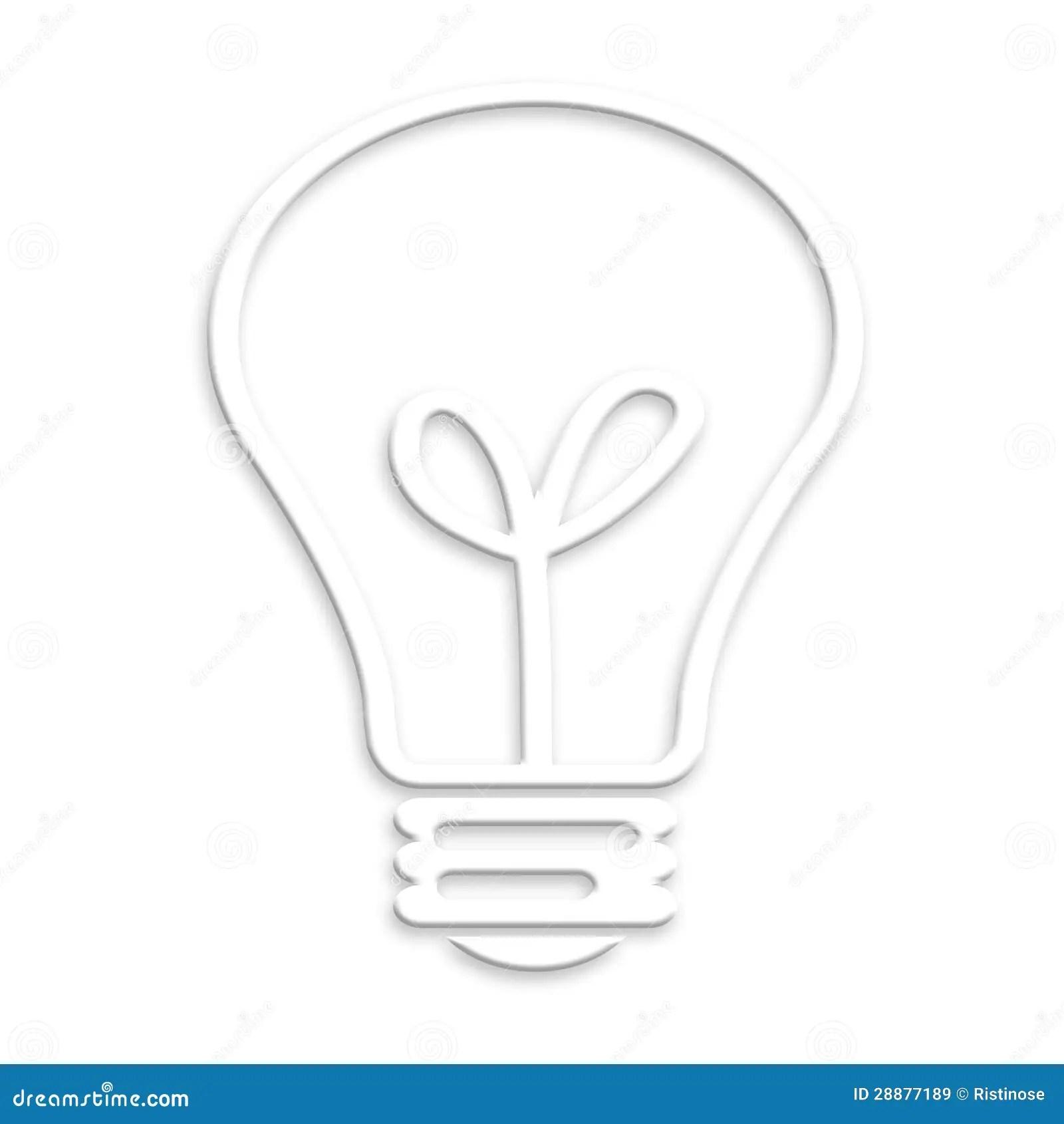 Lightbulb White Background Concept Idea Royalty Free