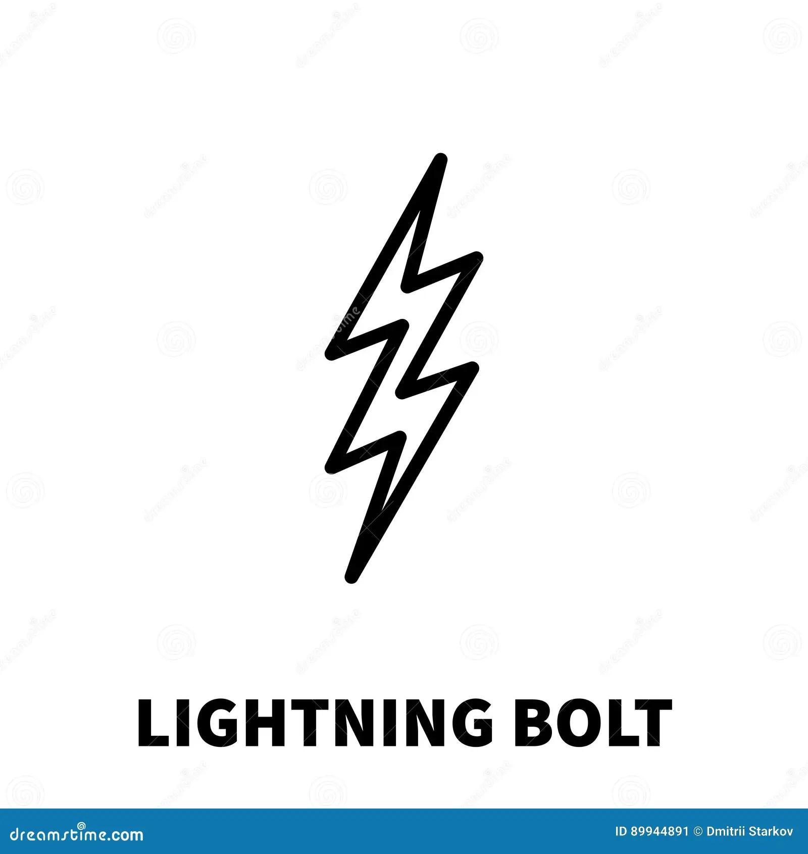 Lightning Bolt Icon Or Logo In Modern Line Style Stock