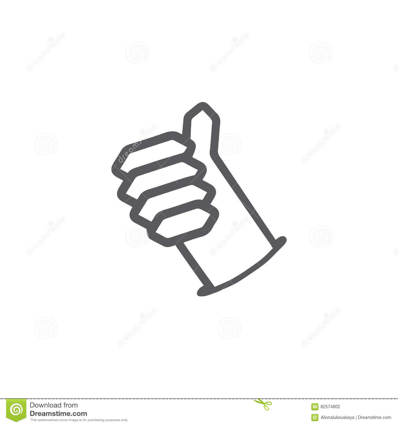 Thumb Up Symbol Finger Up Icon Vector Illustration Vector
