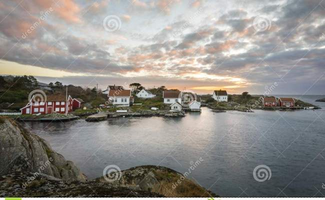 Lillesand Norway November 7 2017 Ulvoysund Ocean And
