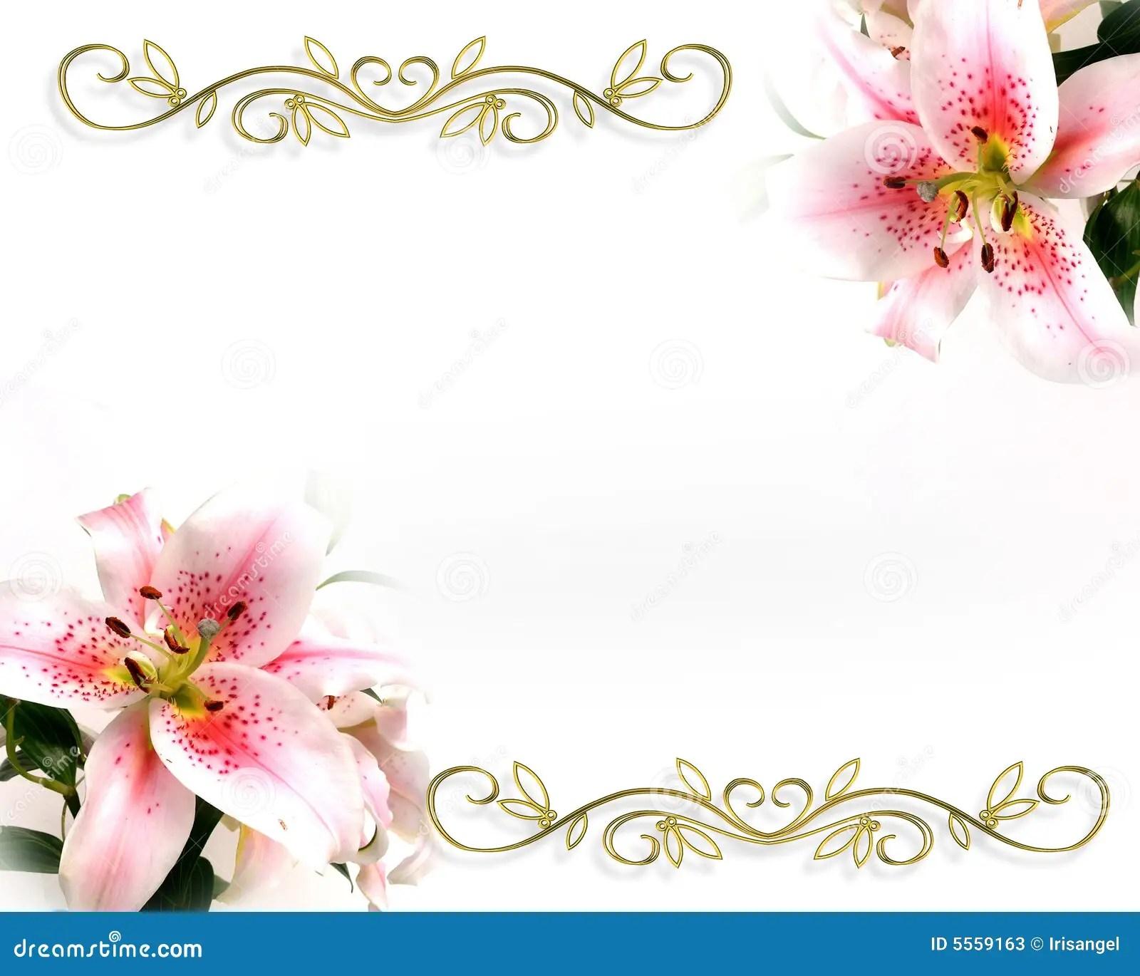Lily Floral Invitation Romantic Design Stock Photos  Image 5559163