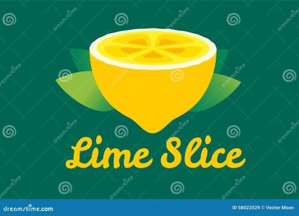 Lime Lemon Fruit Slice. Lemonade Juice Logo Stock